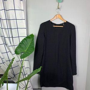 Scotch and Soda Black Textured Shift Dress